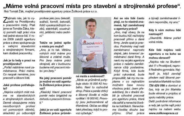 Skutečně v Prostějově není práce?