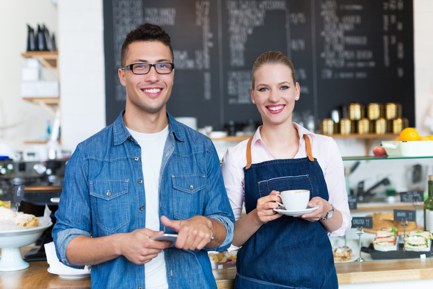 Obsluha kavárny