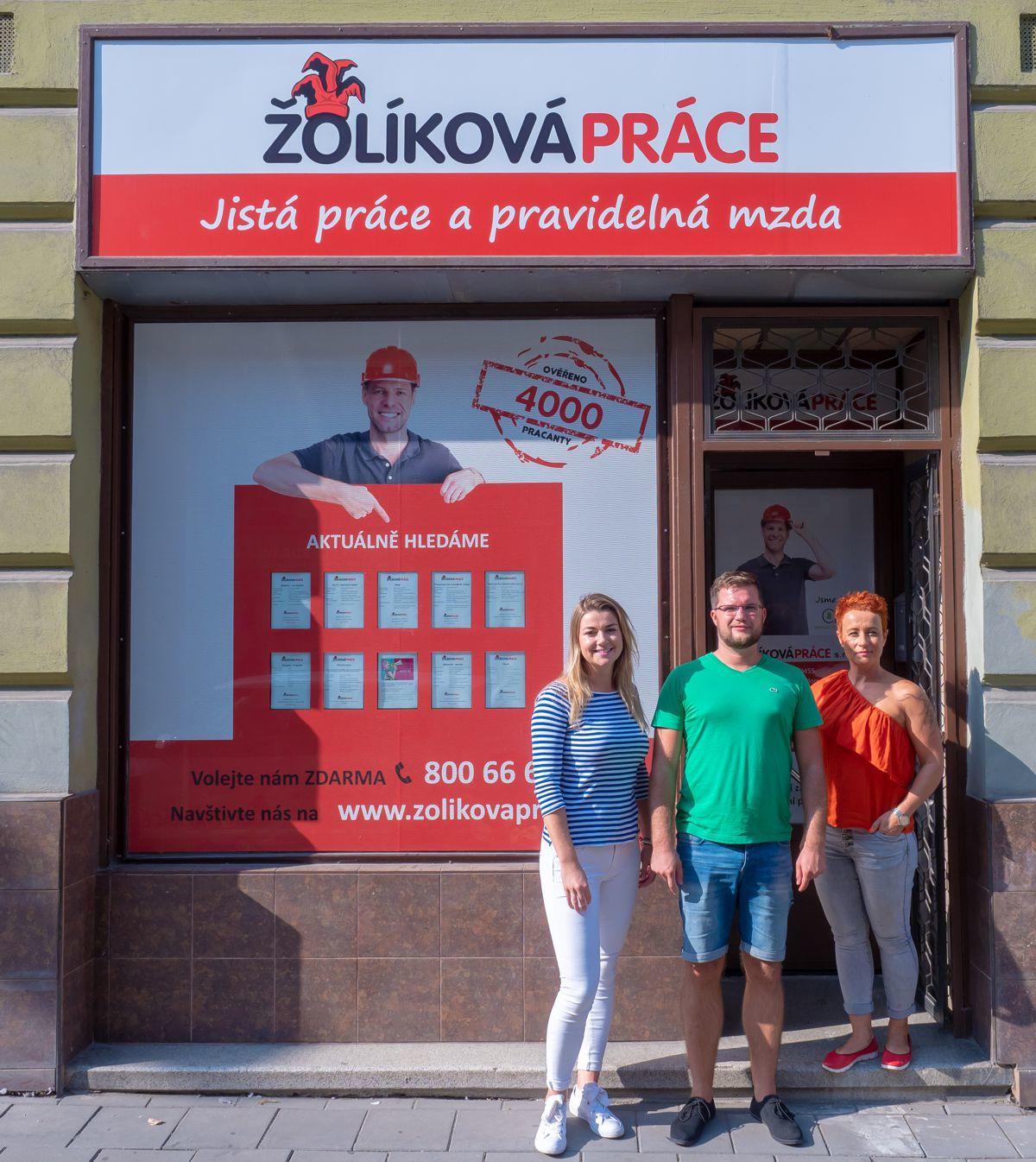 Žolíková práce - pobočka Olomouc